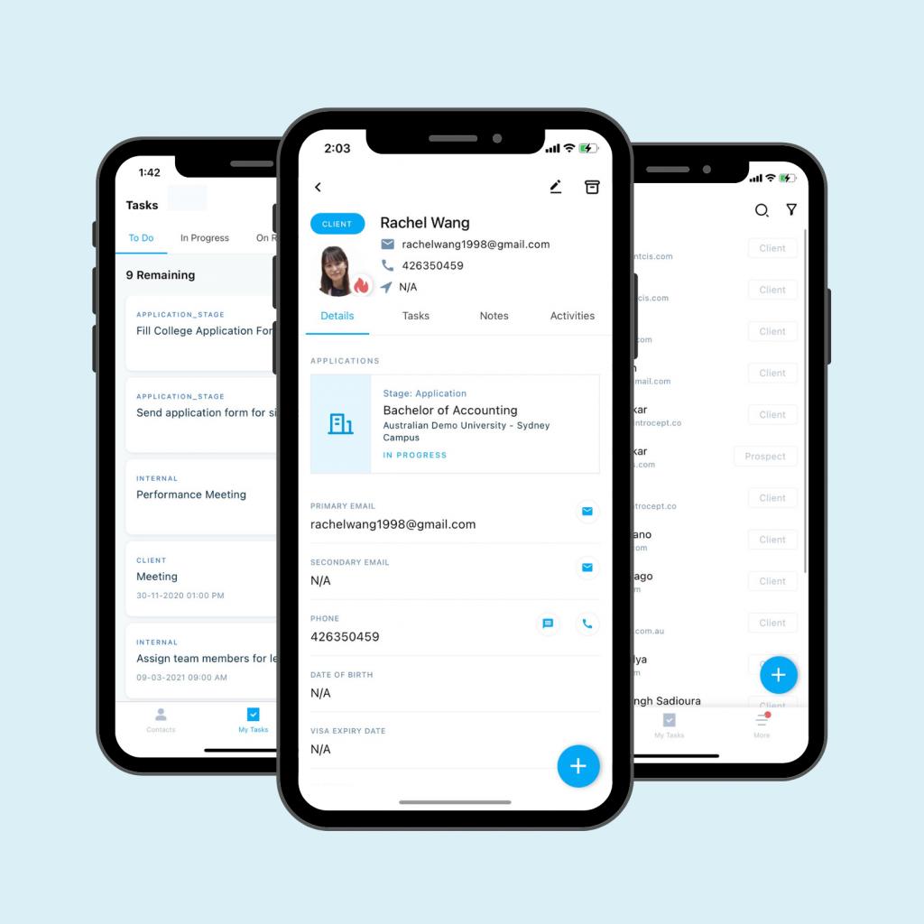 Agentcis' mobile app